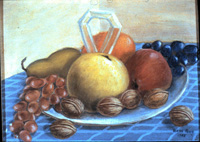 fruit and nuts still life