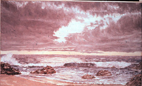 seascape with dark clouds